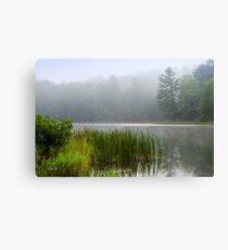 Foggy Sunrise Landscape Canvas Print