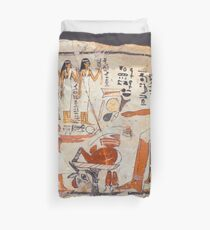 Egyptian illustrated panel Duvet Cover