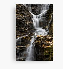 Winding Waterfall Landscape Canvas Print