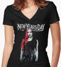Ashley Costello - New Years Day Women's Fitted V-Neck T-Shirt