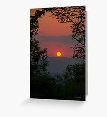 Golden Glow Sunset Landscape Greeting Card