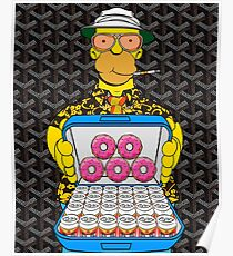 Homer Simpson with Goyard Poster