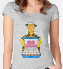 Homer Simpson Fear and Loathing Women's Fitted Scoop T-Shirt