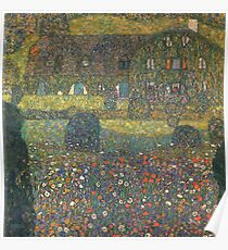 Gustav Klimt - Country House By The Attersee Poster