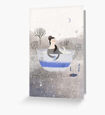 Living In A Cup Of Snow Greeting Card