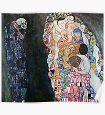 Gustav Klimt - Death And Life 1910 Poster