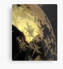 Ice Stars on Christmas Balls  Metal Print