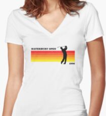 Waterbury Open | Happy Gilmore | Retro Style Women's Fitted V-Neck T-Shirt