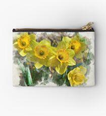 Daffodil Watercolor Studio Pouch