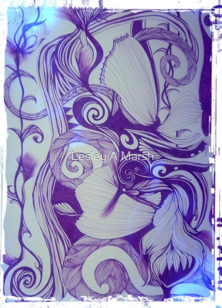 KELKIRK ST. papatuanuku blue by Lesley A Marsh