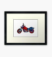 Motorcycle Daze Framed Print