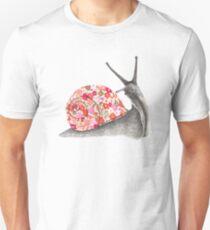 Happy Floral Snail T-Shirt