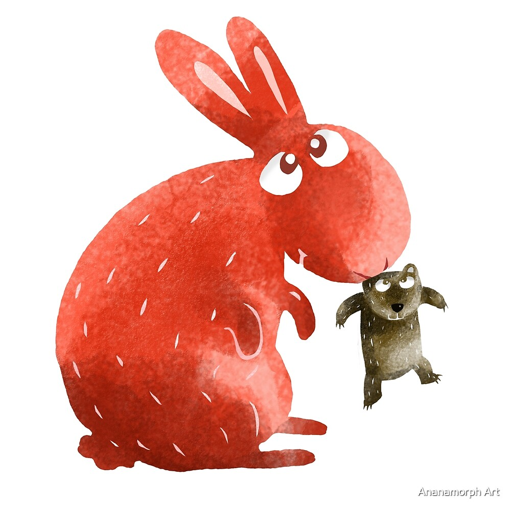 Red Rabbit Catches Bear by Ananamorphs