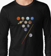 Solar System Billiards / Pool / Snooker  Long Sleeve T-Shirt