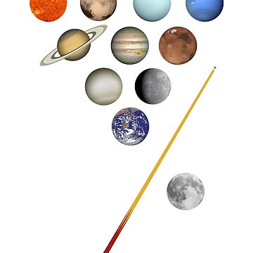 Solar System Billiards / Pool / Snooker  by SpaceAlienTees