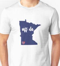 UFF DA Minnesota w/Norway Heart Flag Unisex T-Shirt