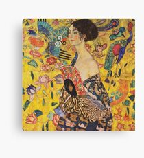Gustav Klimt - Lady With Fan 1918 Canvas Print