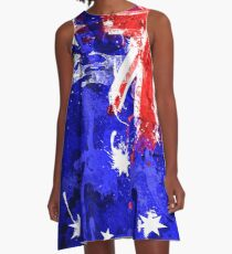 Australian Flag Graphic Design A-Line Dress