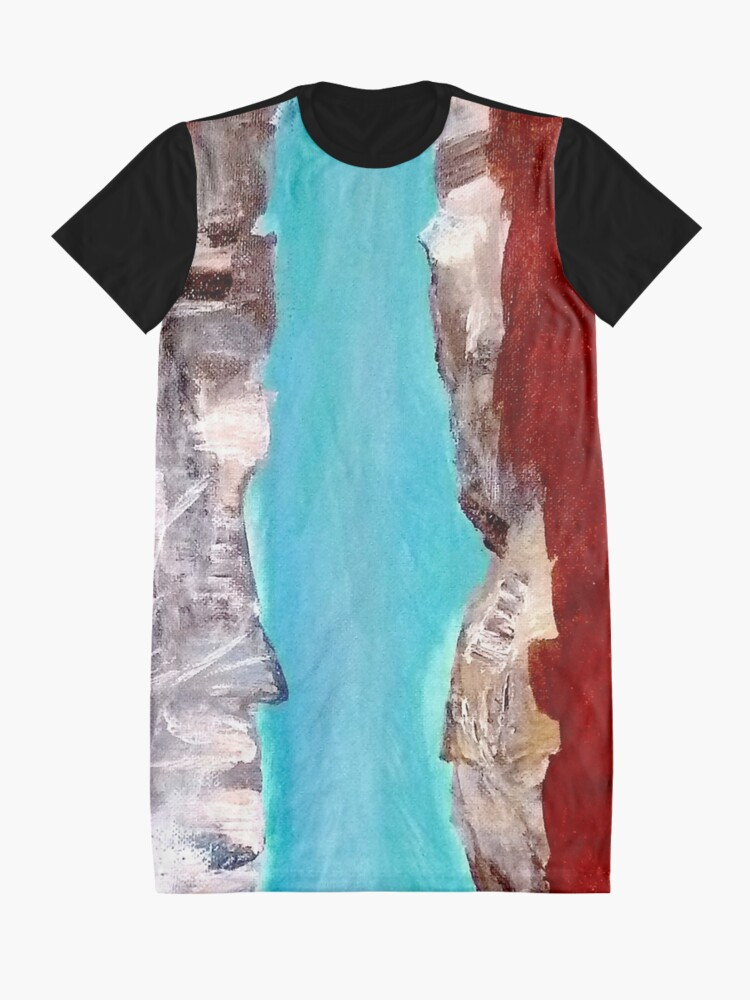 Alternate view of Mountain river Graphic T-Shirt Dress