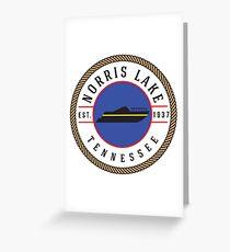 NORRIS LAKE TENNESSEE BOATING BOAT TN  NAUTICAL TN Greeting Card