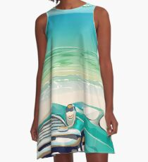 Cayo Coco cuban vacation poster  A-Line Dress