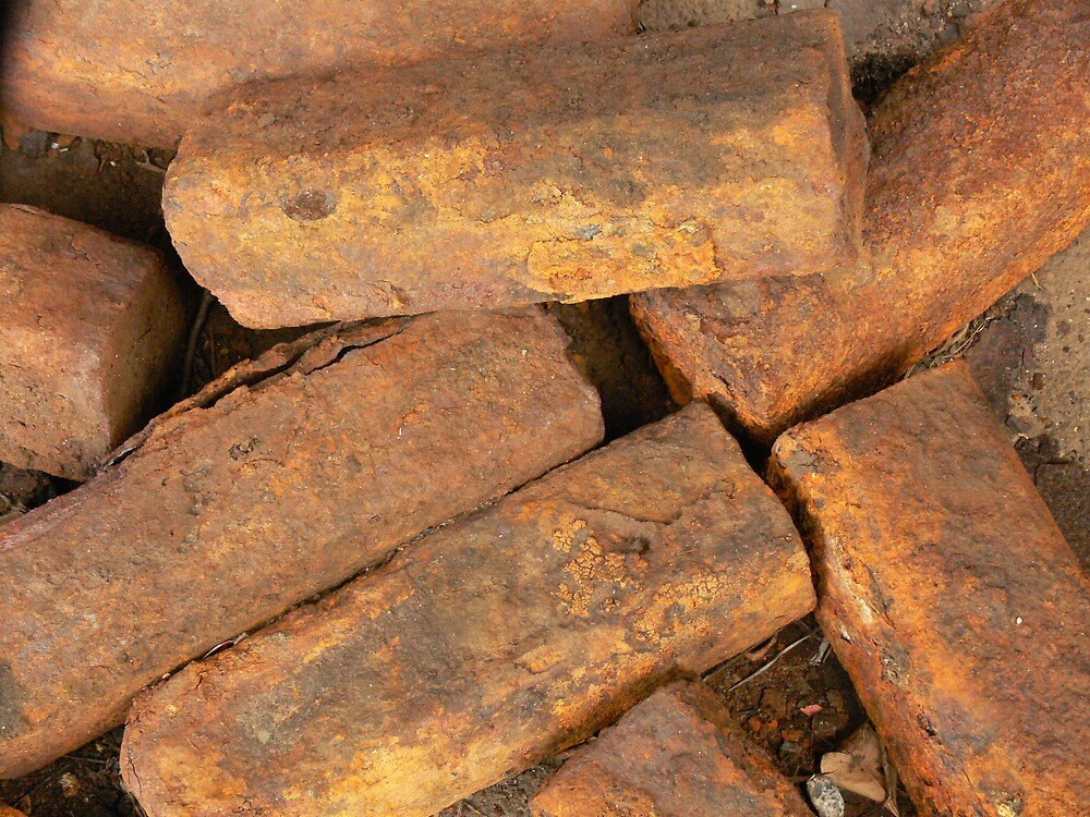 Gold Ingots...hardly....Rusty Ballast Certainly. by Peter Rowley