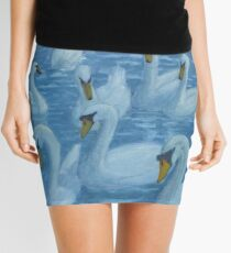 River Nene Swans Mini Skirt