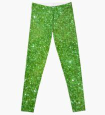 Green Glitter Abstract Leggings