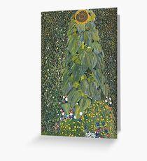 Tarjeta de felicitación Gustav Klimt - El girasol 1907