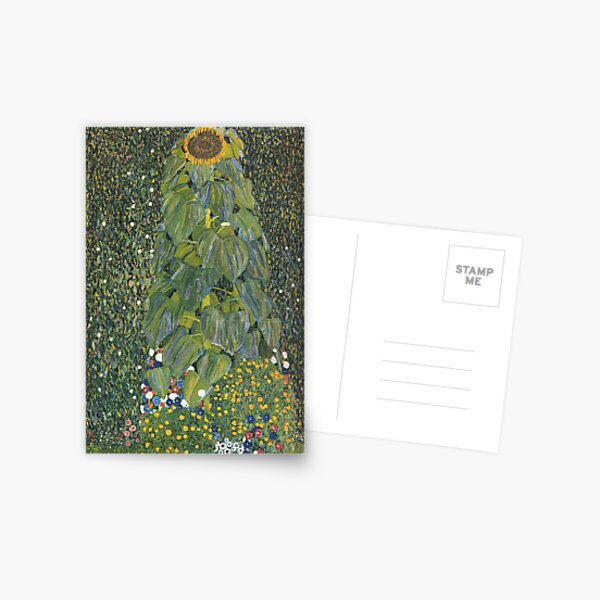 Gustav Klimt - The Sunflower 1907 Postcard