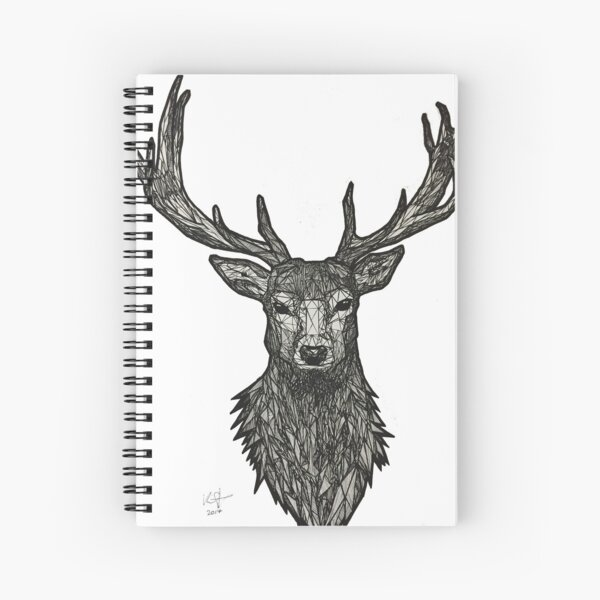Geometric Stag Spiral Notebook