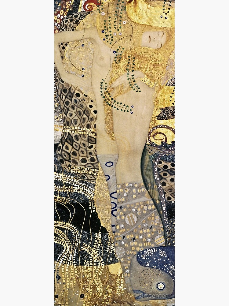 Gustav Klimt - Water Serpents , 1907 by artcenter