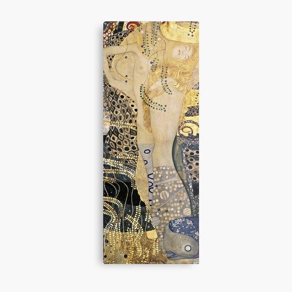 Gustav Klimt - Water Serpents , 1907 Metal Print
