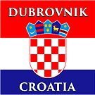 Dubrovnik Croatia - Croatian Flag Design by IntWanderer