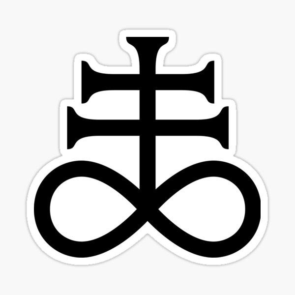 Sulfur - Brimstone - Leviathan Cross - Satanic Cross Sticker
