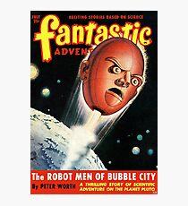 Vintage Fantastic Adventures Robot Science Fiction Photographic Print
