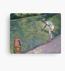 Gustave Caillebotte - A Man Docking His Skiff Canvas Print