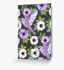 Purple Paper Anemone Collage Greeting Card
