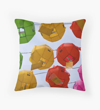 Temple Lanterns #1 Throw Pillow