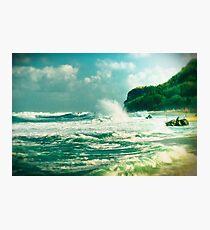 Stormy sea Photographic Print
