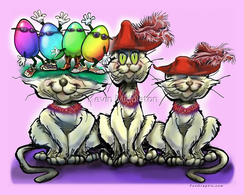 Cats in Easter Hats by Kevin Middleton