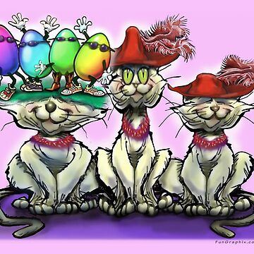 Cats in Easter Hats by kevinmiddleton