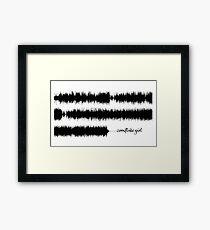 Tori Amos - Cornflake Girl Soundwave Framed Print
