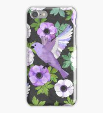 Purple Paper Anemone Collage iPhone Case/Skin