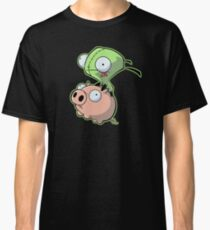 Gir riding his Pig Classic T-Shirt