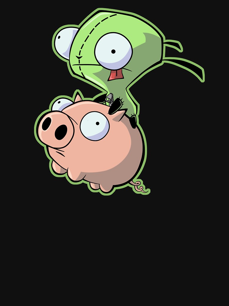 TShirtGifter presents: Gir riding his Pig | Unisex T-Shirt