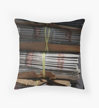 newspapers Throw Pillow