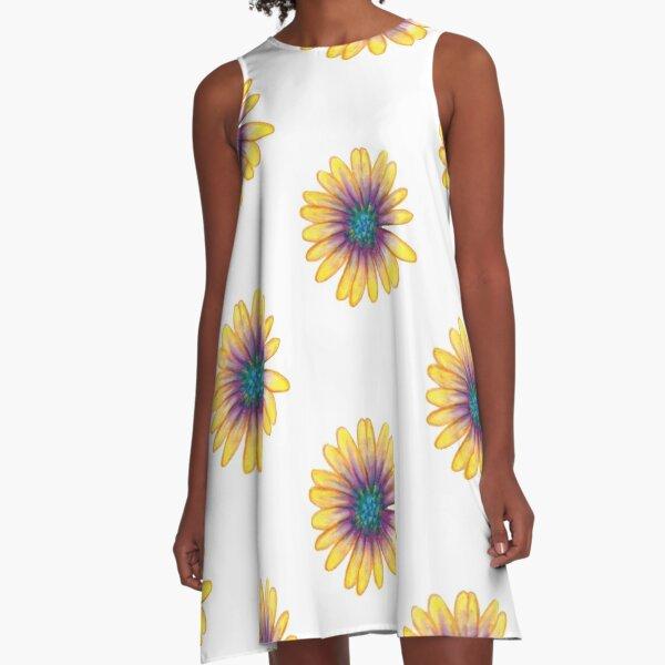 Yellow Flower A-Line Dress