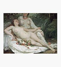 Gustave Courbet - Bathers Or Two Nude Women Photographic Print