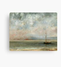 Gustave Courbet - Clouds Over Lake Geneva Canvas Print